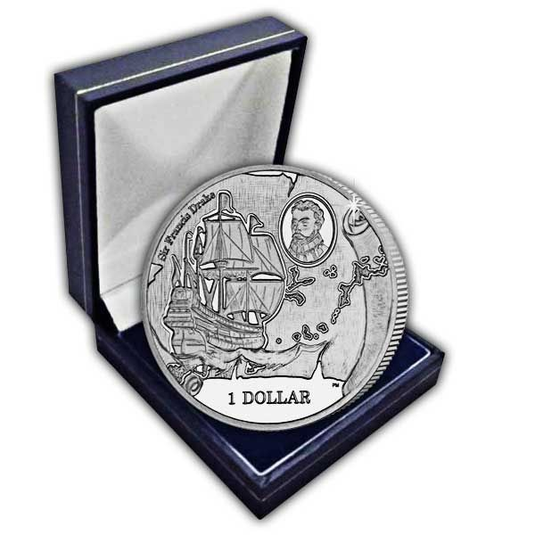 The 2015 475th Anniversary of the Birth of Sir Francis Drake Cupro Nickel Coin