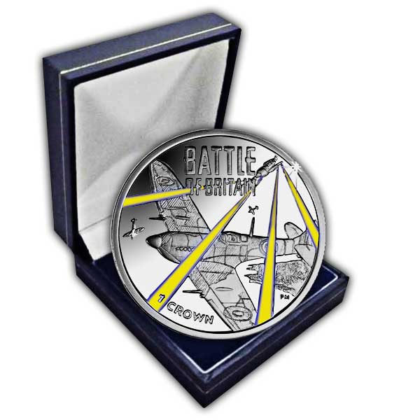 The 2015 75th Anniversary of the Battle of Britain Cupro Nickel Colour Coin