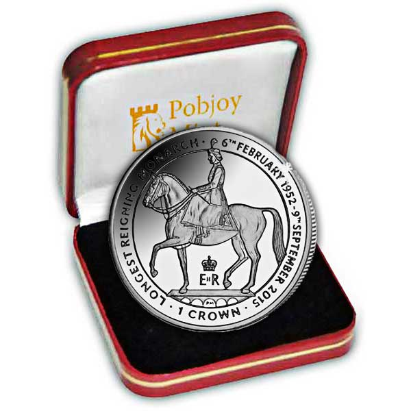 The 2015 Longest Reigning British Monarch Silver Coin