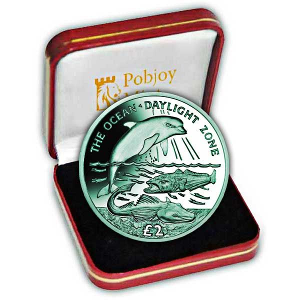 The 2016 Daylight Zone Turquoise Titanium Coin