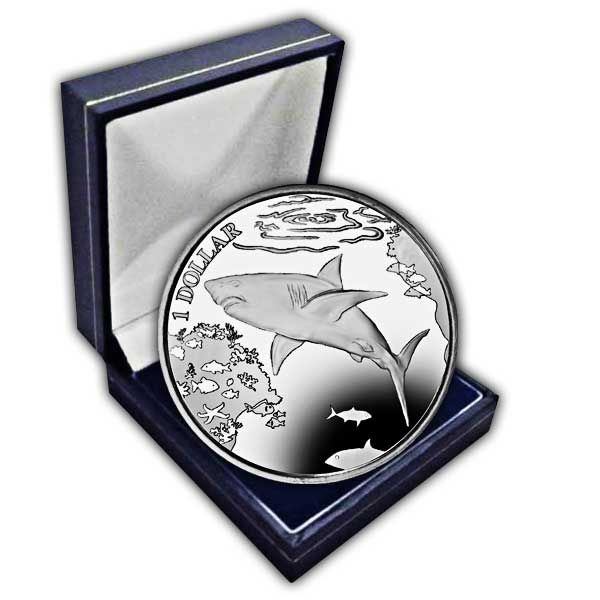 The 2016 Great White Shark Cupro Nickel Coin