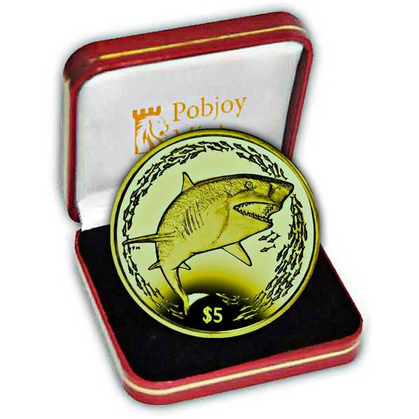 The 2016 Lemon Shark Yellow Titanium Coin