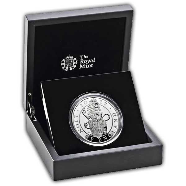 The Lion of England 2017 UK Five-Ounce Silver Proof Coin