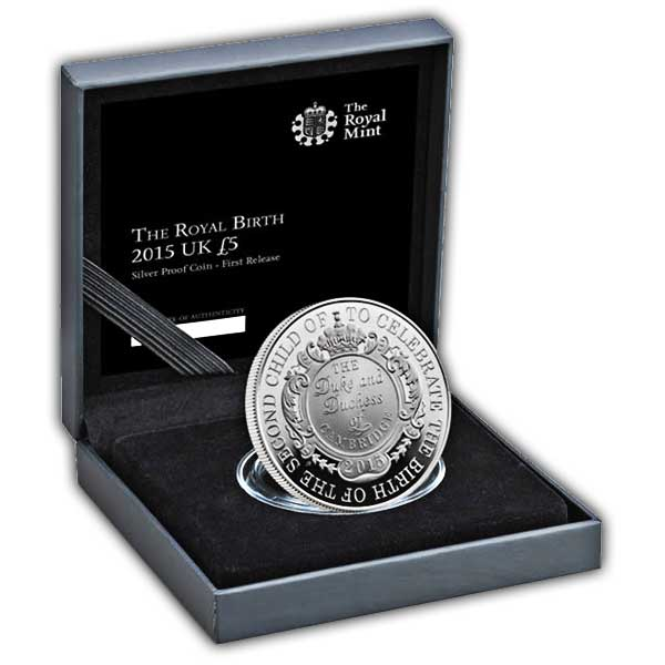 The Royal Birth 2015 United Kingdom £5 Silver Proof Coin