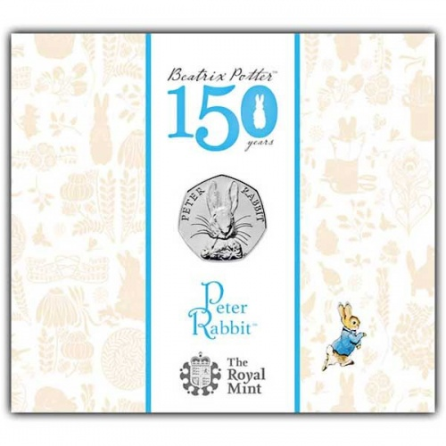 Peter Rabbit 2016 UK 50p BU Coin