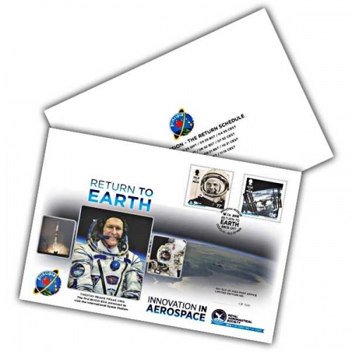 Royal Aeronautical Society Tim Peake Return To Earth Special Cover