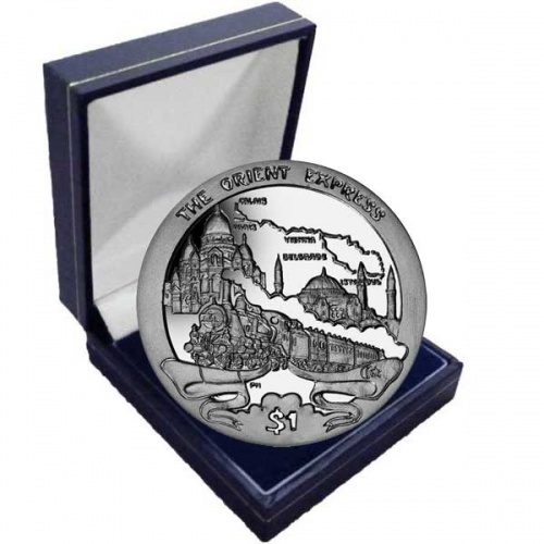The 2013 130th Anniversary of the Orient Express Cupro Nickel Coin