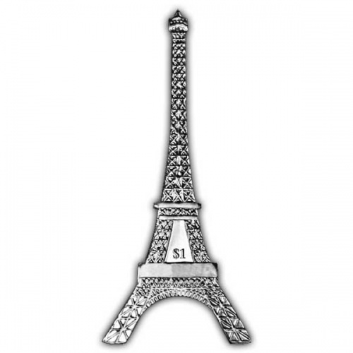 The 2014 125th Anniversary of the Eiffel Tower Nickel Silver Coin