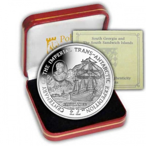 The 2014 Centenary of the Start of the Trans-Antarctic Expedition Silver Coin