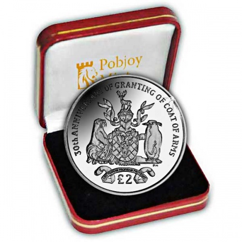 The 2015 30th Anniversary of the Granting of the Coat of Arms Silver Coin