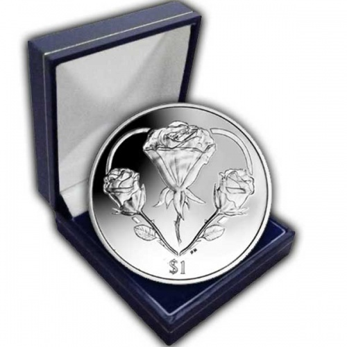 The 2015 The Rose - A symbol of Love Cupro Nickel Coin