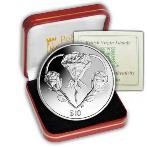 The 2015 The Rose - A symbol of Love Silver Coin