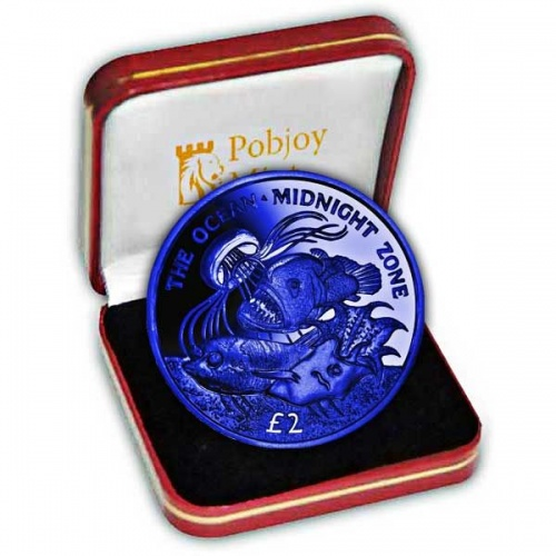 The 2016 Midnight Zone Dark Blue Titanium Coin