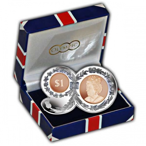 The 2016 Queens 90th Birthday ''90'' Shaped Nickel-Silver and Bronze Coin