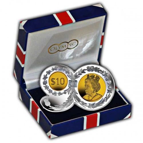 The 2016 Queens 90th Birthday ''90'' Shaped Silver and Gold Plated Coin