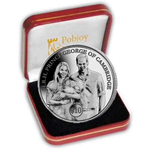 The 2013 HRH Prince George of Cambridges Christening Silver Coin