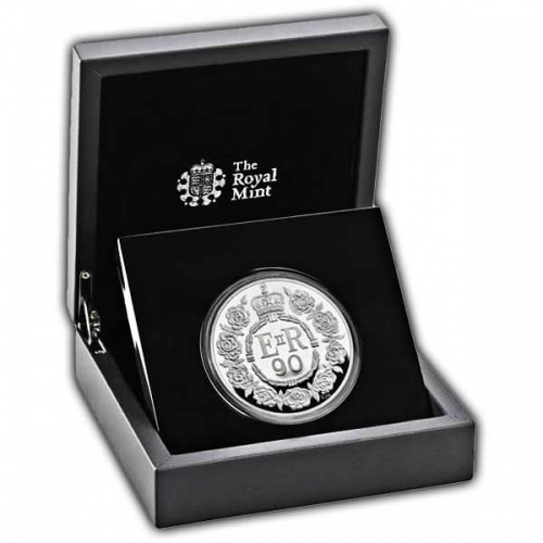 The Queens 90th Birthday 2016 UK Silver Proof Five-Ounce Coin