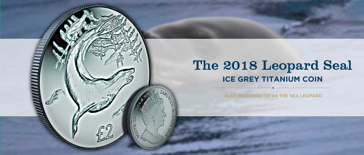 The Leopard Seal Ice Grey Titanium Coin
