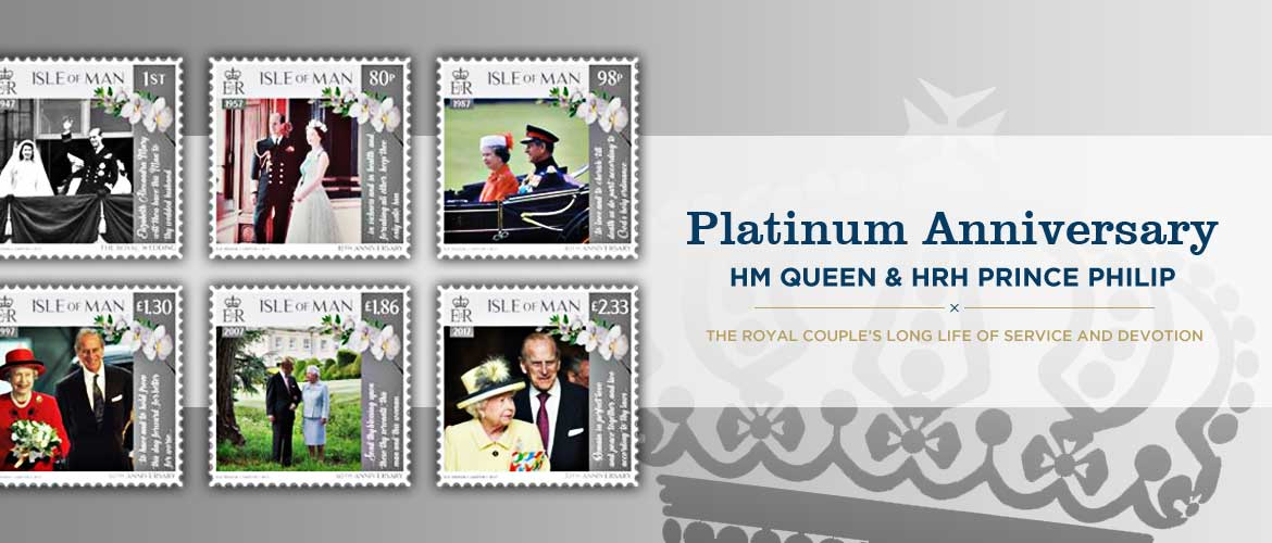 Platinum Wedding Anniversary Island Stamps And Coins