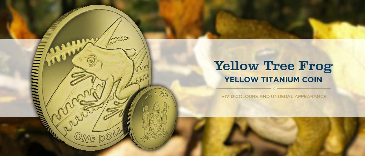 The Yellow Tree Frog Titanium Coin